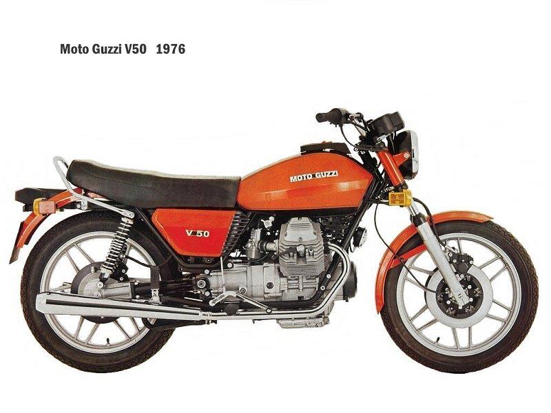 Le jeu de l'image MotoGuzzi-V50-1976